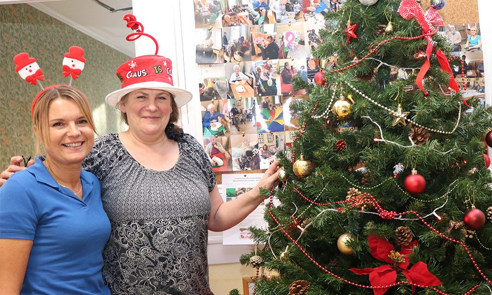 Christmas at Crossways nursing home